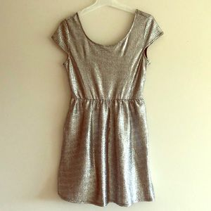 Silver party dress